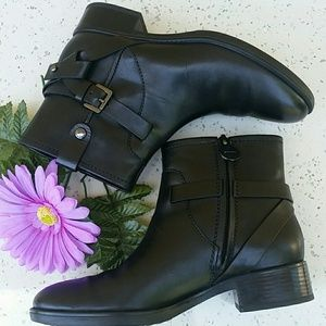 Geox Shoes - GEOX BLACK D FELICITY ANKLE BOOTS