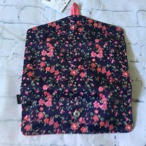 teen vogue Bags - Teen Vogue Blue Floral Pencil/Brush Case FREE WP