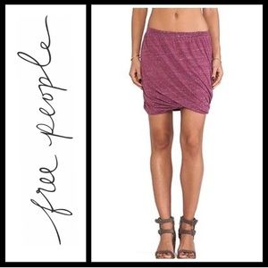 Free People Dresses & Skirts - Free People Marled Rose Twisted Bubble Skirt
