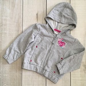 Levi's Other - Levi's Heart Appliqué Zip Hoodie Jacket