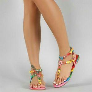 076184b567d3 Studded Rainbow Sandals