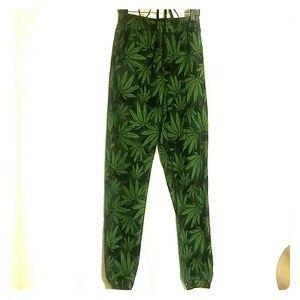 American Bazi Pants - American Bazi Pot Leaf Joggers