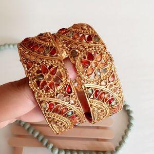 Jewelry - #A98 25% off Gold Embellished Kundan Indian Bangle