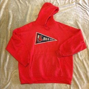 Majestic Other - Vintage Boston Red Sox Hoodie Red Pennant L Large