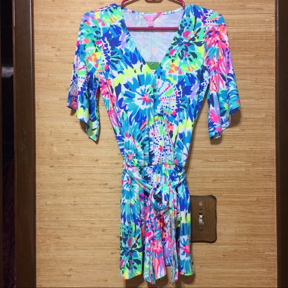 ad6dd2d3dce1 Lilly Pulitzer Madilyn Romper Dive In XXS