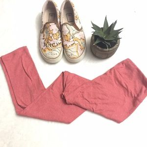 LuLaRoe Pants - LULAROE Heather Pink Coral OS Leggings