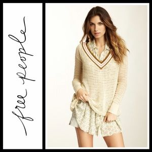 Free People Sweaters - Free People Shredded sport loose knit tunic