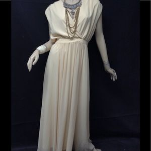 Paper Crown Dresses & Skirts - $298 Paper Crown cream faux wrap gown size S