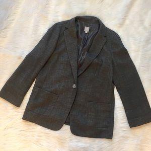 J. Jill Jackets & Blazers - {J. Jill} Relaxed Single Button Grey Lined Blazer