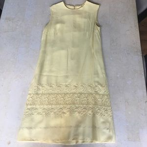 VINTAGE Yellow Sleeveless Sundress