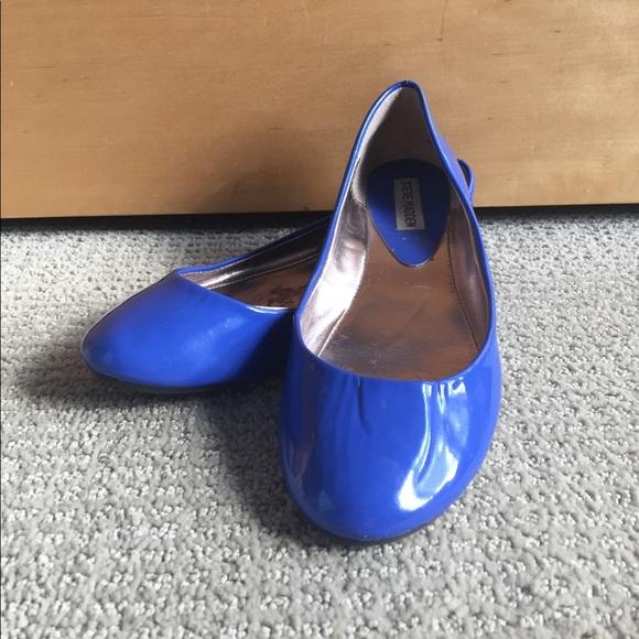 95231ddb4de Steve Madden Blue Patent Ballet Flats