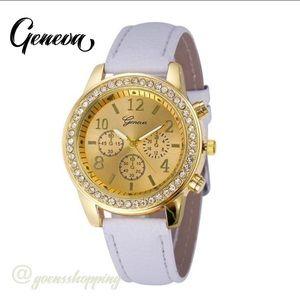 Goensshopping Accessories - White GENEVA Women's Luxury Quartz Watch
