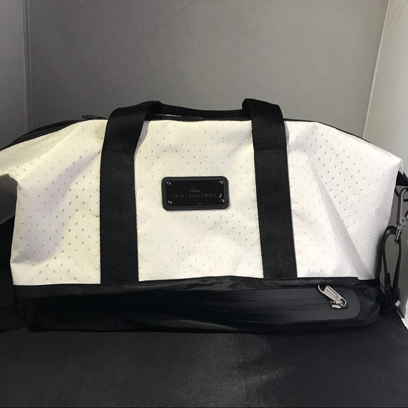 b0bf008124 Adidas by Stella McCartney White and Black Gym Bag