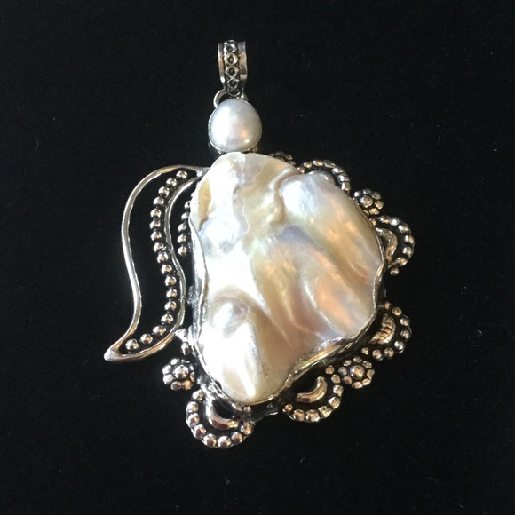 Gem & Mineral Show Jewelry - Unbelievable !  Baroque Natural Pearl Pendant