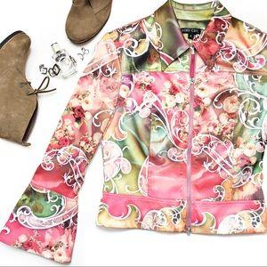 Boho Chic Floral Satin Jacket