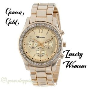 Goensshopping Accessories - Gold GENEVA Women's Luxury Quartz Watch