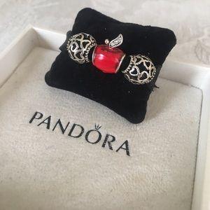 Pandora Jewelry - 3 Apple Charm Set