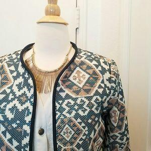 Zara Jackets & Blazers - Printed blazer geometric baroque tribal aztec
