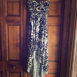 5th & Love Dresses & Skirts - Ruffle Top Strapless Hi-Low Dress