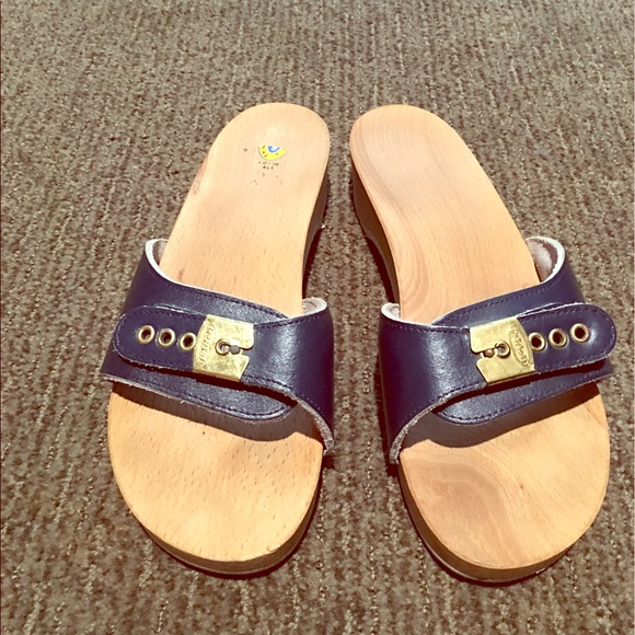 23843abcf7f4 Dr. Scholl s Shoes - Navy blue classic dr. Scholl s one strap sandals