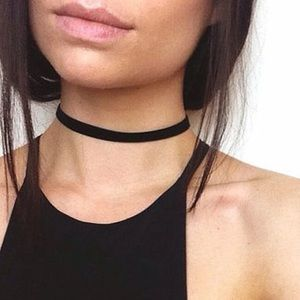 Jewelry - 🌺3FOR$15🌺🔥LAST ONE🔥🖤Black Ribbon Choker🖤