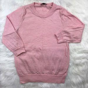 J. Crew Soft pink crew neck sweater