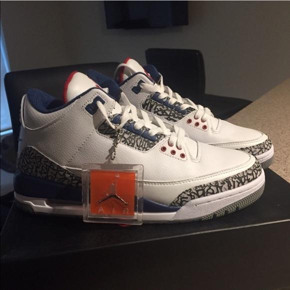 d4cddbdfcd Nike Shoes   Air Jordan 3 Og True Blue 2016 White Blue Red   Poshmark