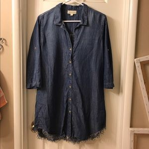 Anthropologie - cloth and stone chambray dress - s