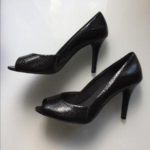 FIONI Clothing Shoes - Size 8 Peep toe Black Heels