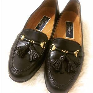COLE HAAN BRAGANO Black tassel loafers size 7