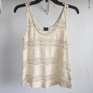 Sparkle & Fade Tops - White Urban Outfitters lace tank top