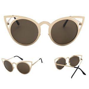 Accessories - Gold Cat Eye Sunglasses