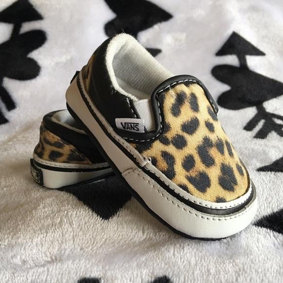 Vans Shoes   Baby Vans Leopard Slip Ons