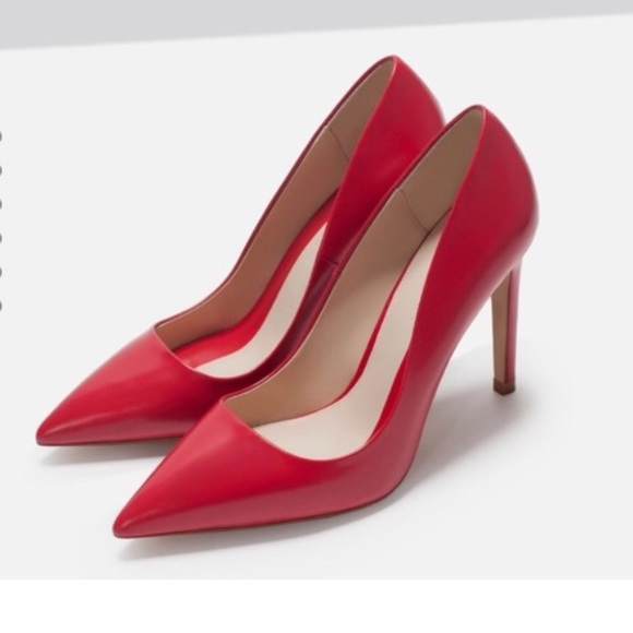 1db8bf06712 Zara Basic Collection Red Pumps