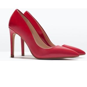 49c6c5acbf6 Zara Shoes - Zara Basic Collection Red Pumps