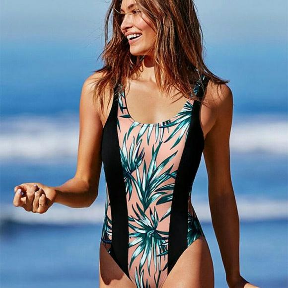c2bec4a59e Victoria Secret PINK high leg one piece swimsuit