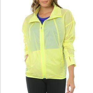 Adidas light windbreaker in soft yellow RARE