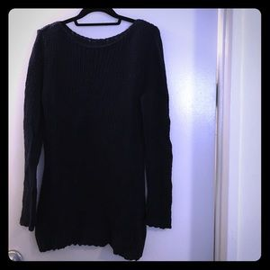 The Row Sweaters - The Row navy knit sweater dress