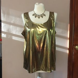 Gold holiday new years eve sleevless top