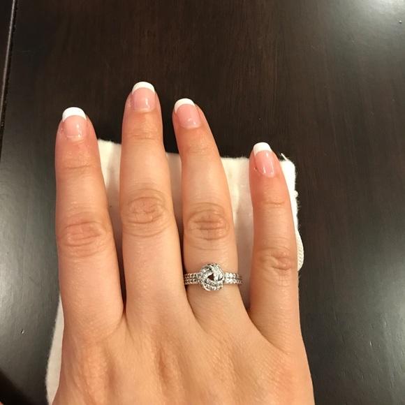 83f1908ef1fd2 Pandora sparkling love knot ring
