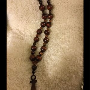 Brown Onk Beaded Necklace