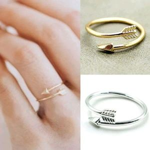 Jewelry - Brand New Gold or Silver Adjustable Arrow Ring