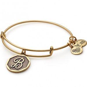Alex And Ani Jewelry - Alex and Ani Initial B Charm Bangle Bracelet