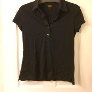 L.L. Bean black short sleeve polo shirt