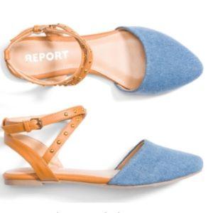 Report Shoes - Report Footwear Baylee Studded Denim Flat