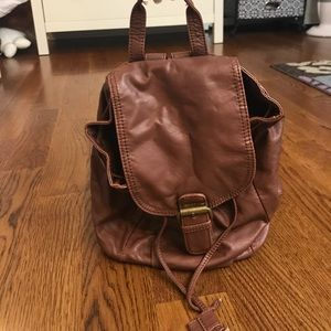 Icing Handbags - NWOT Small Brown Leather Backpack