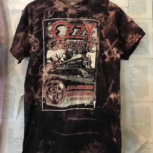 Ozzy Osborne crazy train acid washed tee