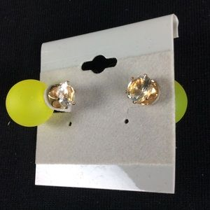 Jewelry - New Yellow and Gold Double Ball Stud Earrings