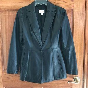 Cache Jackets & Blazers - Gorgeous💕 Real Leather Blazer! 🔥