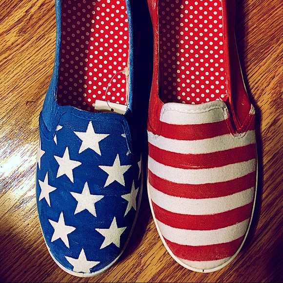 4th of july american flag canvas shoes 9 from uprooted
